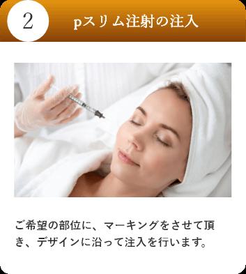 pスリム注射の注入